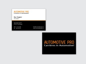 Visitekaartjes Automotive Pro